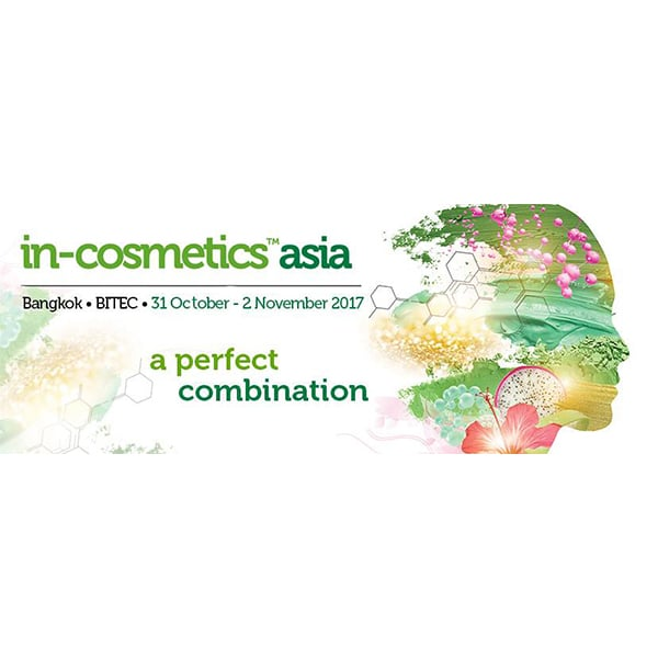 In-cosmetics Asia, 31st October-2nd November 2017, Bangkok