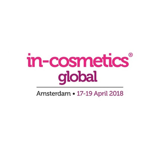 In-Cosmetics Global, 17th-19th April 2018, Amsterdam